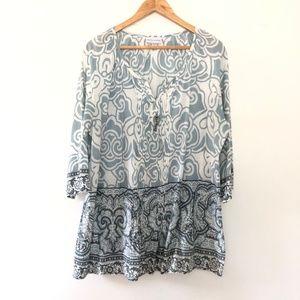 Soft Surroundings 3/4 Sleeve Tunic Shirt